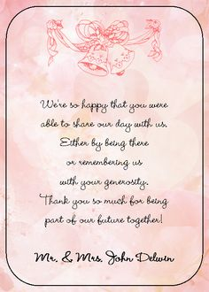 thank you cards wedding wording google search