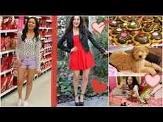 Valentine's Day Hair, Makeup & Outfit ideas! + Easy V-day treat! by Bethany Mota