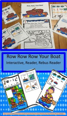 Row Row Row Your Boat This is a great song for circle time fun. As the rhyme is short with repeating lyrics it is great for beginner speakers including preschoolers, kindergarteners, English Language Learners and those with speech and language difficultie Row Row Row, Row Row Your Boat, The Row, Speech Therapy Activities, Fun Activities, Classroom Activities, Classroom Ideas, English Language Learners, Language Arts