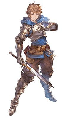 View an image titled 'Gran Art' in our Granblue Fantasy Versus art gallery featuring official character designs, concept art, and promo pictures. Character Poses, Game Character Design, Fantasy Character Design, Character Portraits, Character Design Inspiration, Character Concept, Character Art, Fantasy Armor, Anime Fantasy