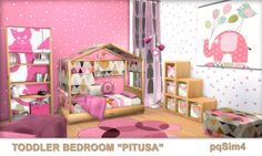 The post Toddler Bedroom Pitusa. appeared first on Toddlers Diy. Toddler Girl Bedroom Sets, Girls Bedroom Sets, Toddler Rooms, Diy Kids Furniture, Sims 4 Cc Furniture, Bedroom Furniture Sets, Los Sims 4 Mods, The Sims 4 Bebes, Muebles Sims 4 Cc