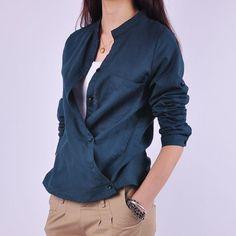 Linen asymetric shirt