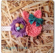 Easter Egg Bunny Headband Rabbit Headband bird by MiyahsCloset, $12.99
