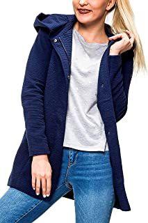 ONLY Damen Kurzmantel mit Kapuze /Übergangsjacke