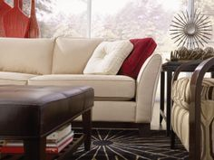 The urban Sinclair sectional can be configured to fit any space so there's romance at every corner.