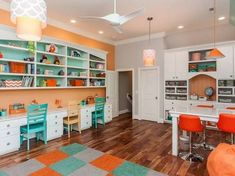 Parents often get confused in choosing the right room design for the kid's study room. The study room design should have a balance between work and entertainment as it must create a perfect ambience for work. Kids Study Spaces, Study Room Kids, Home Study Rooms, Study Room Design, Small Room Design, Kids Room Design, Kid Spaces, Kids Study Table Ideas, Kids Rooms
