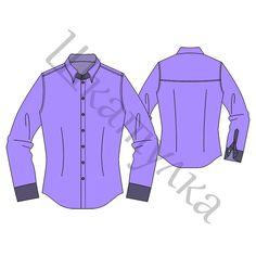Выкройка мужской приталенной рубашки MT060218