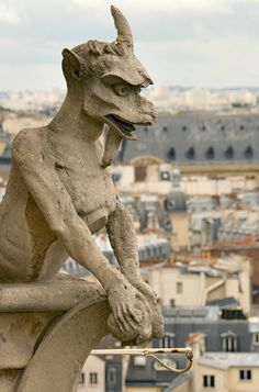 Chimera at Notre Dame Cathedral, Paris, France - photo credit: Lee W. Nelson
