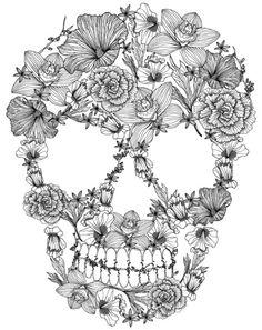 Dia De Los Muertos: Day of the Dead and Sugar Skull Coloring Book