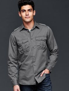Lived-in military shirt