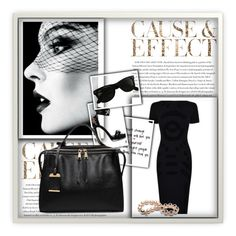 """""""Cause & Effect"""" by cristina-barberis ❤ liked on Polyvore featuring McQ by Alexander McQueen, GE, Alexander McQueen, Ray-Ban and Envi:"""
