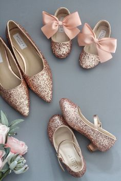 Rose Gold Glitter for Women and Girls - Wedding Shoes & Flower Girls Shoes - Rose Gold Wedding - Shoes Girls Wedding Shoes, Wedding Boots, Bride Shoes, Girls Shoes, Shoes Women, Wedding Dresses, Zapatos Shoes, Women's Shoes, Me Too Shoes