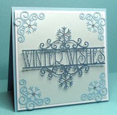 Christmas Snowflake Corner Card of beautiful cut snowflakes by Birds Cards