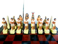 Ancient of Egypt & Rome theme chess in inimitable design.made in resin,best gift for friend/chess pieces