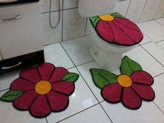 Resultado de imagem para tapetes de retalhos de flor