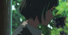 Yukari Yukino (雪野 百香里, 雪野 由香里) meets Akizuki Takao (秋月 孝雄) for the first time. (The Garden of Words)