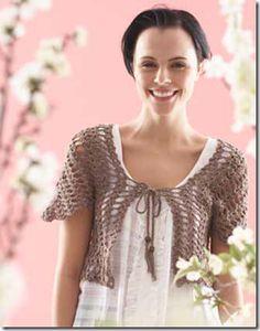 bolero pattern, crochet