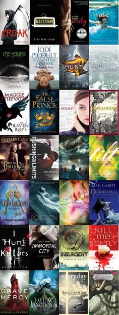 2013 Teens' Top Ten nominees from YALSA: The Raven Boys, Every Day, Seraphina, Crewel, Insurgent, Code Name Verity, The False Prince, and more