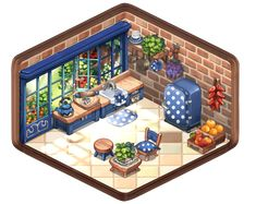 Isometric Art, Isometric Design, Pixel Animation, Graph Design, Cute House, Game Assets, Environment Concept, Fun At Work, Cutaway