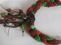 Skin knittting necklace 3 colorsfor precious by galladesign, $35.00