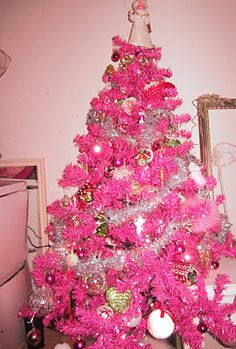 Very Pink Christmas Tree Still Trying To Decide If I Like It Pretty
