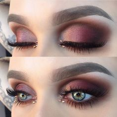 Wow @helenesjostedt ..beautiful blend of burgundy warm tones w/ added bling #vegas_nay