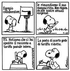 Le lezioni di Scrittura di Snoopy » Lettere di rifiuto / Suggerimenti... #scrittura #snoopy