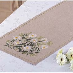 Oxeye Daisy Table Runner by Eva Rosenstand. $79.99
