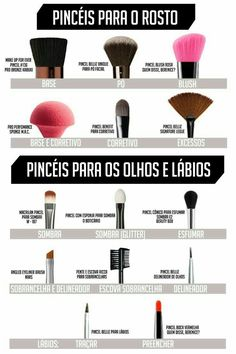 Maquiagem I made a mini makeup brushes guide to rock the make! Contour Makeup, Skin Makeup, Makeup Brushes, Makeup Remover, Eyeliner, Party Make-up, Make Tutorial, Maquillage Halloween, How To Make Hair
