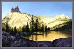 Cathedral Peak Yosemite | Cathedral Peak and Echo mountains above Cathedral Lakes