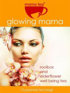 GLOWING MAMA - rooibos and elderflower loose leaf pyramid tea bags
