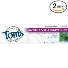 A popular product around our household is Toms's of Maine Toothpaste. It is a toothpaste I trust, and has safe ingredients. My boys love the flavors, and it is never too strong tasting for them. Best of all, you can select flouride free if you prefer.