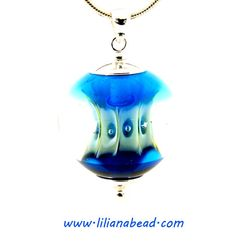 Apple Core in Blues Necklace by Liliana by lilianabead on Etsy, $210.00