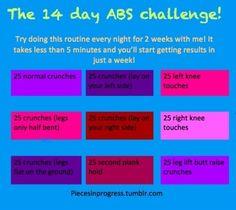 Great Ab Workout Routine 14 days  #marathonfest #abchallenge
