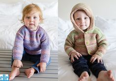 Easy Knits For Kiddies Brand: Elle Count: Double Knit Yarn: Pure Gold DK Print Size From: 3 months Size To: 4 years Hooded Cardigan, Double Knitting, Baby Patterns, Knitting Yarn, Baby Kids, Turtle Neck, Pullover, Pure Products, 4 Years