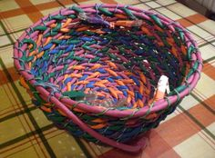 Making a network cable coil basket