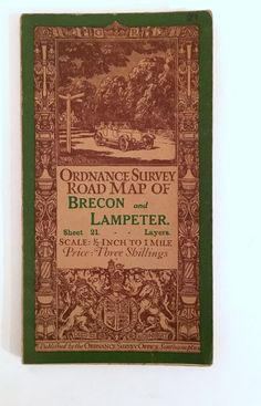 Ordnance Survey Map. Brecon & Lampeter. Sheet 21. Published 1913 at the OS office in Southampton. No mention of later printings or alterations. Printed on cloth. Barely any wear to covers, internally very well kept with hardly any signs of wear. | eBay!