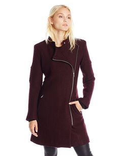 BB Dakota Women's Grayson Boiled Wool Coat with Sleeve Detail... #CoolStuff #BestPrice: $44.99 - $128.00 Grab NOW! @bestbuy9432