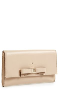 The perfect nude clutch, complete with gold detailing + a pretty bow! via @Nordstrom