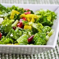 Recipe for Pepperoncini Chopped Salad with Romaine, Red Bell Pepper, and Feta - South Beach Diet  Recipes