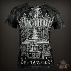 'Merry Christless' Behemoth all-over print t-shirt