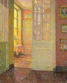 Henri Le Sidaner - Intérieur, lumière de la fenêtre (Interior light window) oil on canvas.