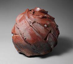 Bizen Jar; Bizen Jar by Harada Shūroku, (Japanese, born 1941); Period: Heisei period (1989–present) Date: 2004 Medium: Stoneware with natural ash glaze and set with taiko-ishi stones
