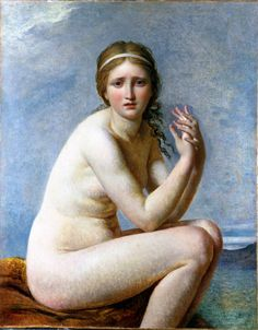 jordansartmuseum:    Jacques-Louis David. Psyche Abandoned. ca. 1795.  Oil on canvas.  Private collection.
