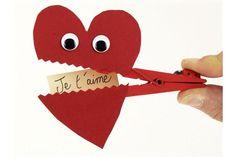 French Valentine's Day craft: pour la Saint-Valentin! Pince à linge Coeur