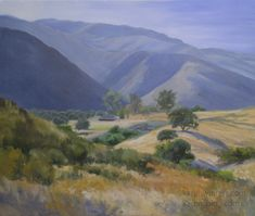 California Landscape Paintings and Plein Air Paintings by California Impressionist Karen Winters Impressionist Landscape, Watercolor Landscape, Landscape Paintings, Oil Paintings, Painting Art, Western Landscape, Mountain Landscape, Morro Bay State Park, California Wildflowers