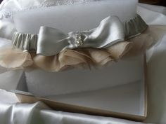 Couture bridal garters www.celebrationsbykat.com