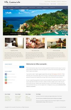 leonardo wordpress theme again, light simple layout.. Not sure about the header bar.. reminds me of a blog site