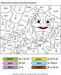 Color by adding numbers - TurtleDiary.com