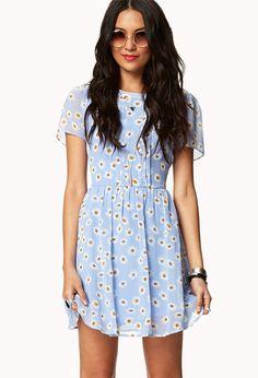 Daisy Print Dress w/ Belt | FOREVER21 - 2035698282